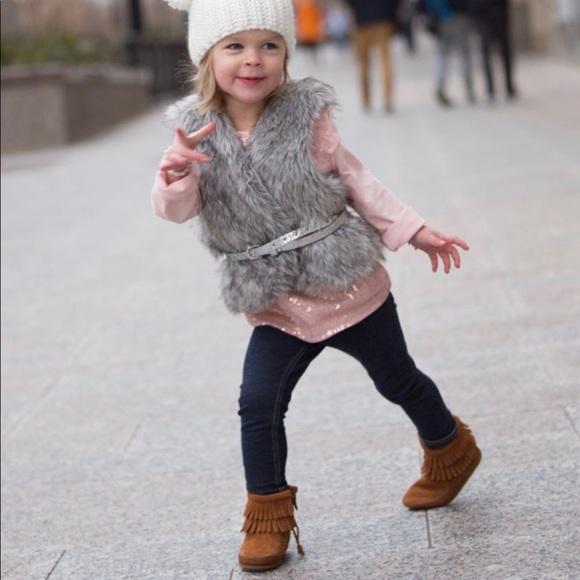 Minnetonka Fringe Boots Toddler Size 4